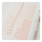 文字を書き込めるテープシール(pinkdot)