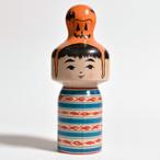 ハロウィンこけし(ニョキポコ) 4寸 約12cm 林貴俊 工人(石巻こけし)#0001