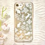 iPhoneハードケース キラキラグリッター*雪ねこ*