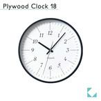 KATOMOKU plywood clock 18 km-110BR ブラック