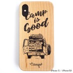 CAMPS iPhoneケース【CAMP is Good】LC70 wood 木製カバー
