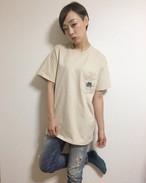 万里慧ロゴTシャツ(ベージュ)
