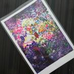 ポストカード単色【purple blue green】吉清花絵 × kokoro-Ne 「 Microcosmos」