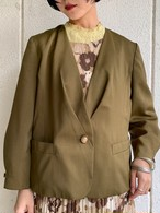 (TOYO) khaki no collar jacket
