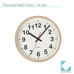 KATOMOKU plywood wall clock 2 km-42M