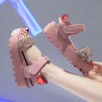 【shoes】ファッションラインストーン配色サンダル21881097