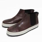 side gore sneakers/BR/26.0~26.5cm/LIBERTAS【即納】