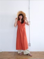 tuck sun-dress(burnt orange)