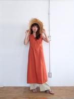 tuck sun-dress(burnt orange)