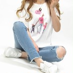 Mama&Kids/Tシャツ/限定/ホワイト