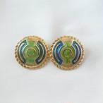 80s ヴィンテージ イヤリング aztec design earrings