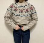 USA vintage retro rose knit