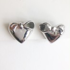"""NINA RICCI"" silver heart earring[e-1254] ヴィンテージイヤリング"