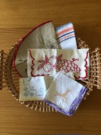 福袋 フランスアンティーク刺繍カトラリーケース&クロス