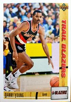 NBAカード 91-92UPPERDECK Danny Young #41 TRAILBLAZERS