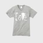 【ユニセックスVネックTシャツ】LOVE