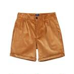 Double-Pleat Corduroy Shorts
