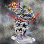 絵画 絵 ピクチャー 縁起画 モダン シェアハウス アートパネル アート art 14cm×14cm 一人暮らし 送料無料 インテリア 雑貨 壁掛け 置物 おしゃれ ロココロ 現代アート 髑髏 ドクロ どくろ カエル 蛙 かえる 動物 アニマル 画家 : nob 作品 : Merlt