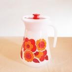 【フランス】 アルコパル 花柄 ミルクガラス ピッチャー コーヒー ロータス