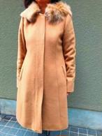 【ソフトバンクホークス日本一おめでとう!送料無料キャンペーン11/26-11/30】 C's     セーズ    フォックスファー取り外しフーデッドウールコート  キャメル