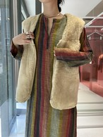 60s France mouton vest