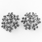 gray flower earring[e-537]