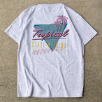 """TROPICAL STATE OF MIND""  S/S TEE - アッシュグレー"