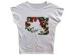 りんごと小鳥のTシャツ(ゆったり)