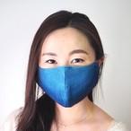 藍染めガーゼ 6 層仕立て 快適サラサラマスク(縦グラデーション)