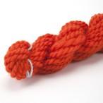 コリデールオレンジ ゲージ用糸サンプル (corri10) 手紡ぎ毛糸オーダー(送料込)