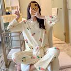 【パジャマ】プリントカジュアルゆったり可愛いパジャマ25714466