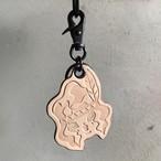 YUMYUM-Indian leather key holder TAN コバカラーブラウン