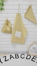 ハンドメイド♡子供用エプロン3点セット♡エプロン・三角巾・巾着