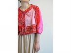 【RehersalL】bandanna tyrole blouse(red C) /【リハーズオール】バンダナチロリブラウス(レッドC)