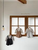 『翌朝発送』spring suspender-pants〈monbebe〉