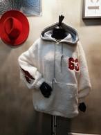 63もこもこフードトレーナー フードトレーナー フーディー 韓国ファッション