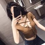 【tops】セクシー切り替え超人気Tシャツ21666897