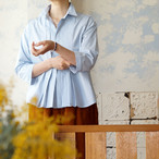 スーペリアオーガニックコットン・八分袖タックシャツ *プラネード