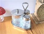 「智子様専用」  ガラスの調味料セット 卓上マスタードS&P入れ フィンランド