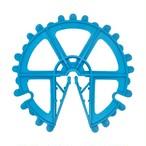 プラスチックスペーサー (D10~16 W80 150個入 ブルー)
