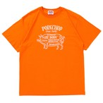 PORK FRONT S/S TEE/ORANGE×WHITE
