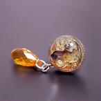 〈glass cat series〉零れるオレンジのピアス