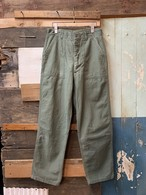70's US ARMY UTILITY TROUSERS OG107 W30