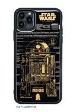 FLASH R2-D2 基板アート iPhone 11 ProMax ケース  黒【東京回路線図A5クリアファイルをプレゼント】