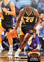 NBAカード 92-93TOPPS George Mccloud #104 PACERS