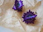 ARRO / Embroidery Earrings / SPUTNIK / purple