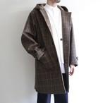 STILL BY HAND【 mens 】check hooded coat