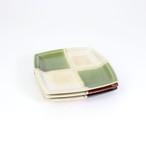 【SET-0020】小皿3枚セット レンガ×抹茶×墨