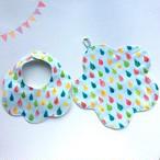 【送料無料】出産準備・出産祝いに /ふわふわ8重ガーゼ / 星型のベビースタイ&ガーゼハンカチ(お祝い2点セット)