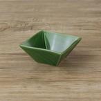 【SL-0013】 磁器 7cmスクエアボウル 緑